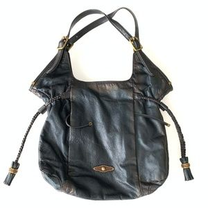 Elliott Lucca Leather Bag with Tassels